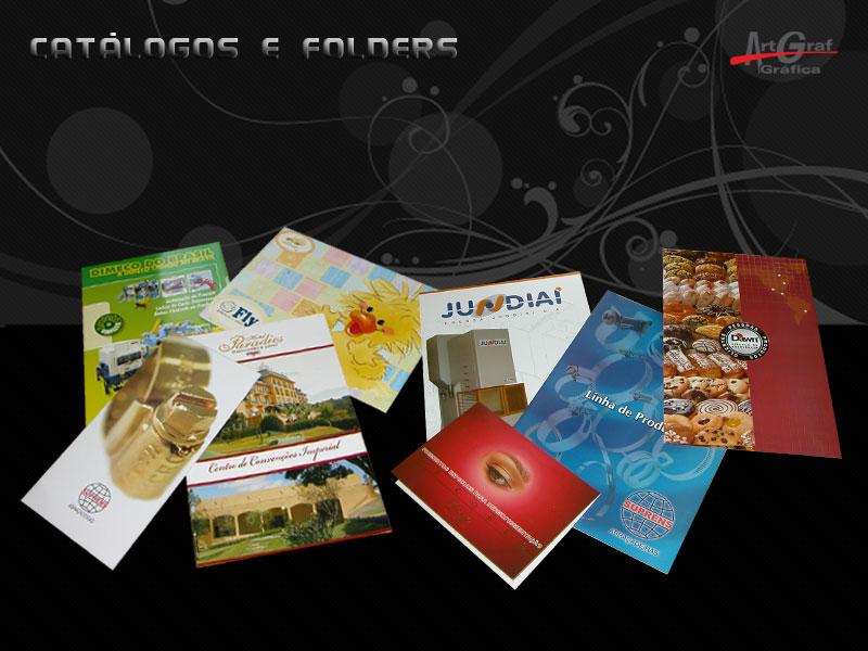 Impressos Comerciais Pastas e Papelaria Catálogos e Folders